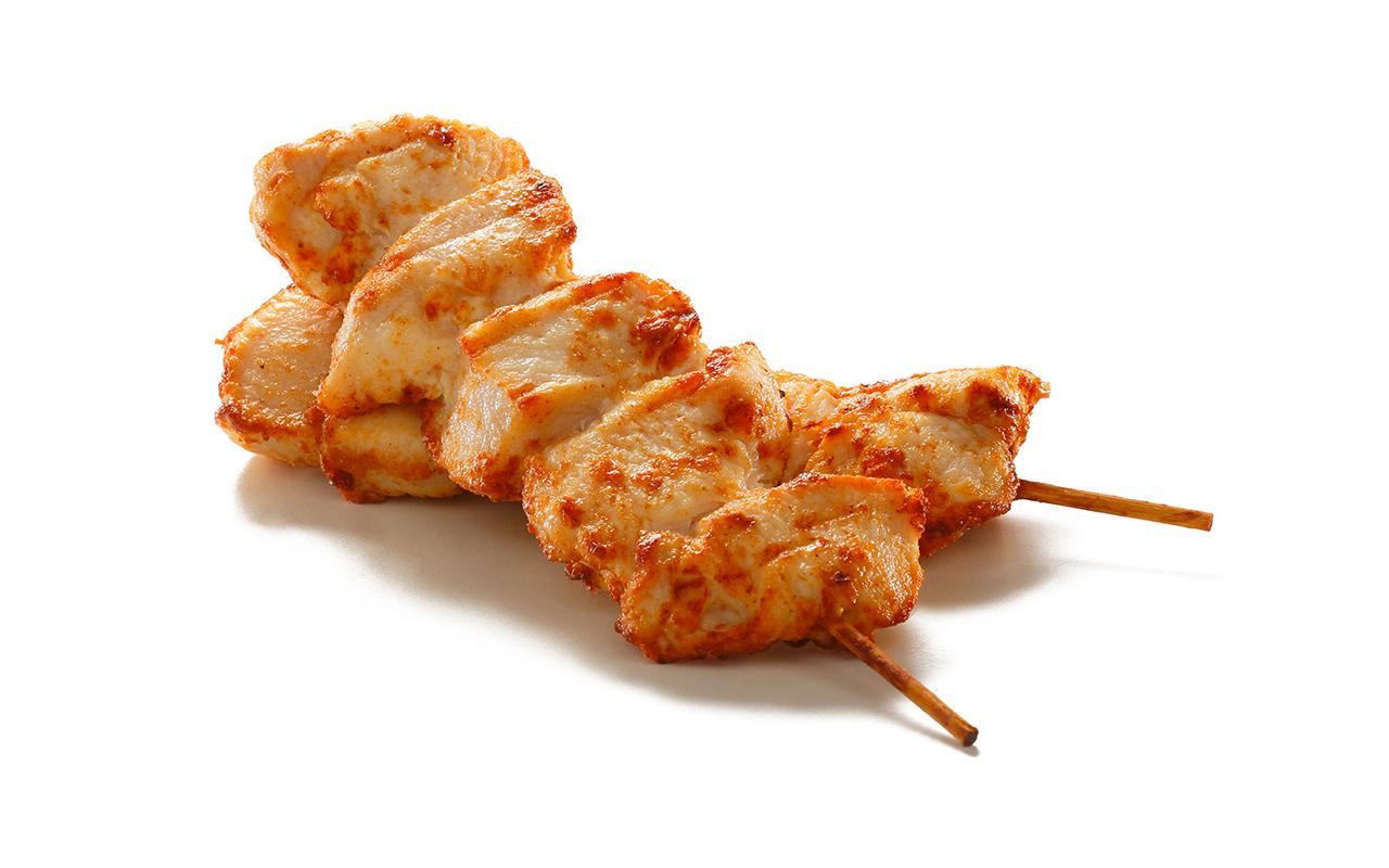 Flash Fried Chicken Breast Skewers